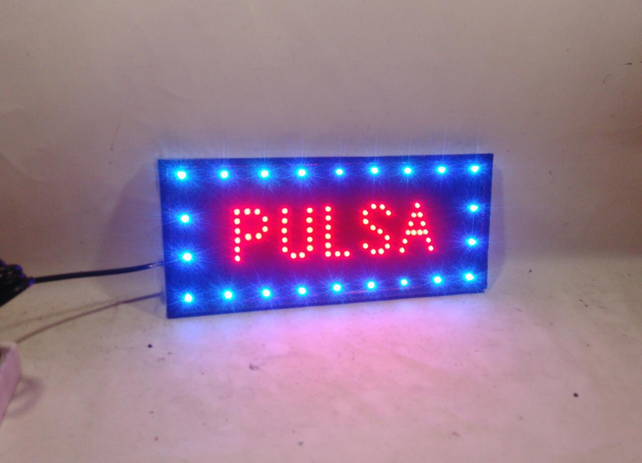 led sign / tulisan lampu led Pulsa new full veriasi kedip2