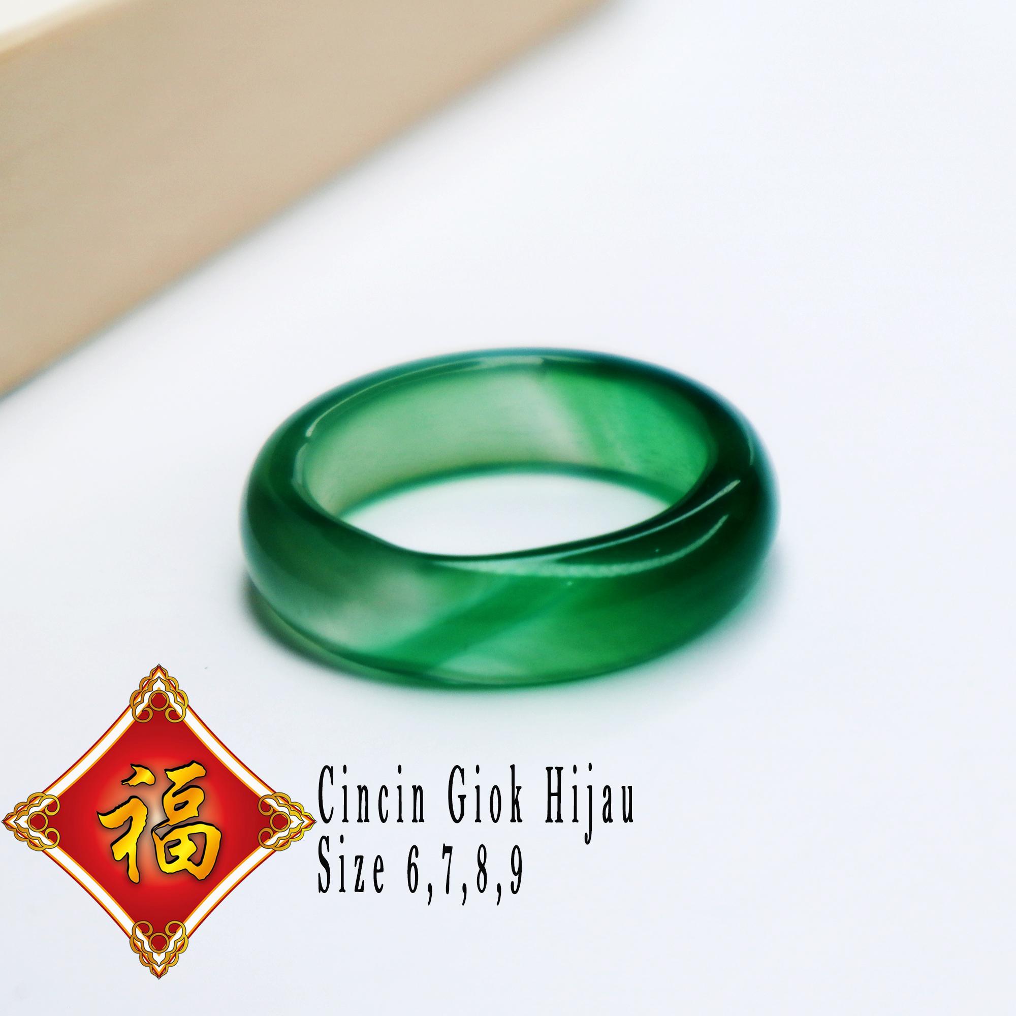[bayar tempat] cincin pria wanita batu giok asli natural