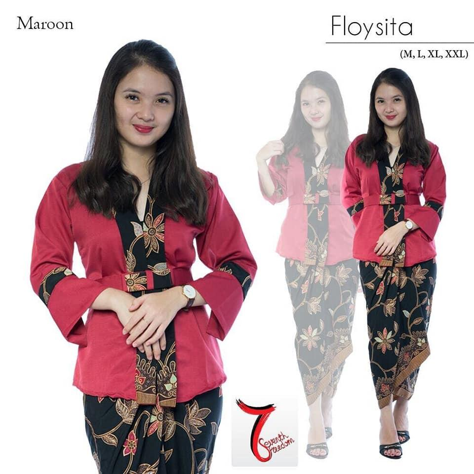 Setelan baju kebaya batik modern kutu baru & rok keluaran terbaru fashion wanita/baju kebaya