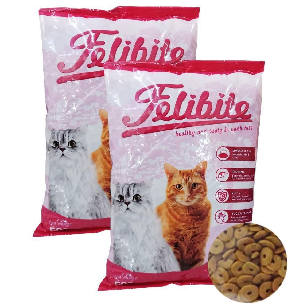 pakan / makanan kucing kering felibite bentuk donut 500 gram / 1kg