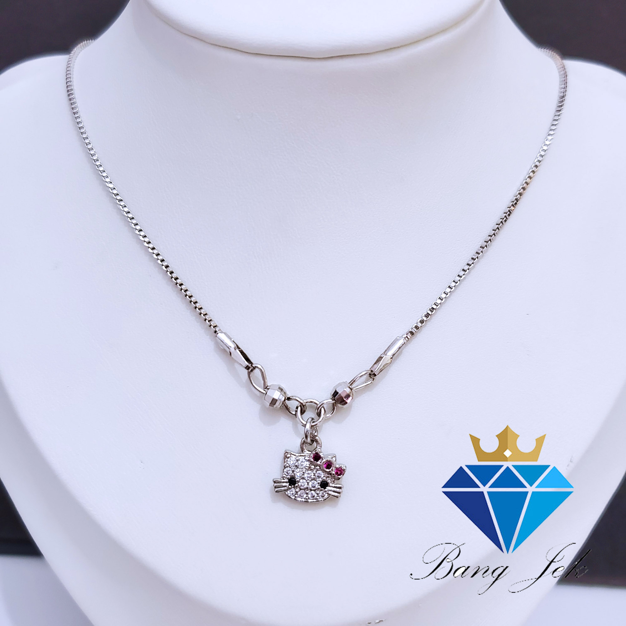 kalung anak anti hitam karat motif hello kitty