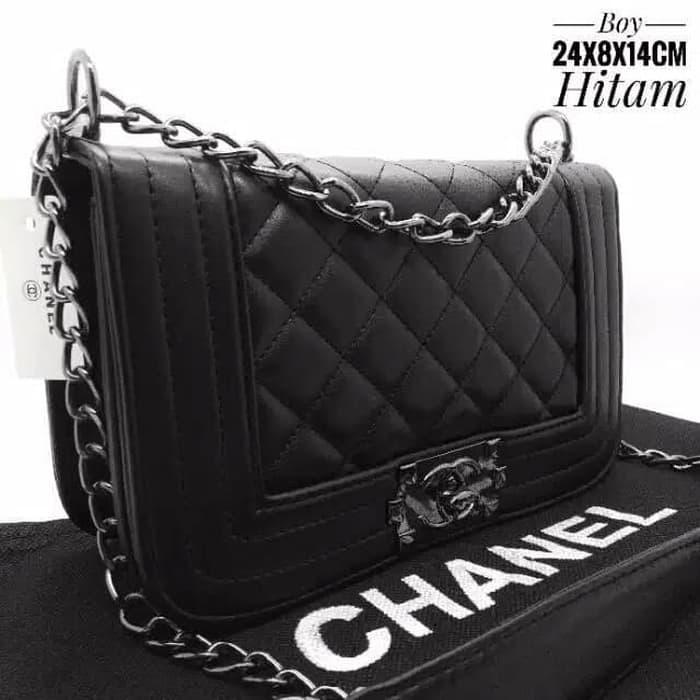 TERMURAH!!! Tas Selempang Wanita Pesta Tas Cewek Import Batam Sling Bag  Chanel Boy 7d063329f1