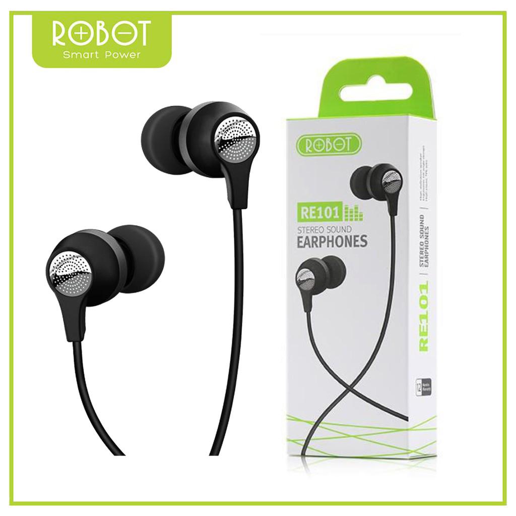 earphone robot re101 stereo original