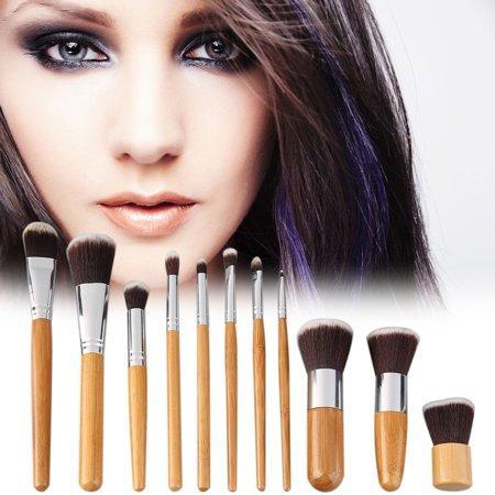 Detail Gambar Kuas Make Up| Make Up Brush 11 Set with Pouch|Make Up Brush Wood 11Set Terbaru