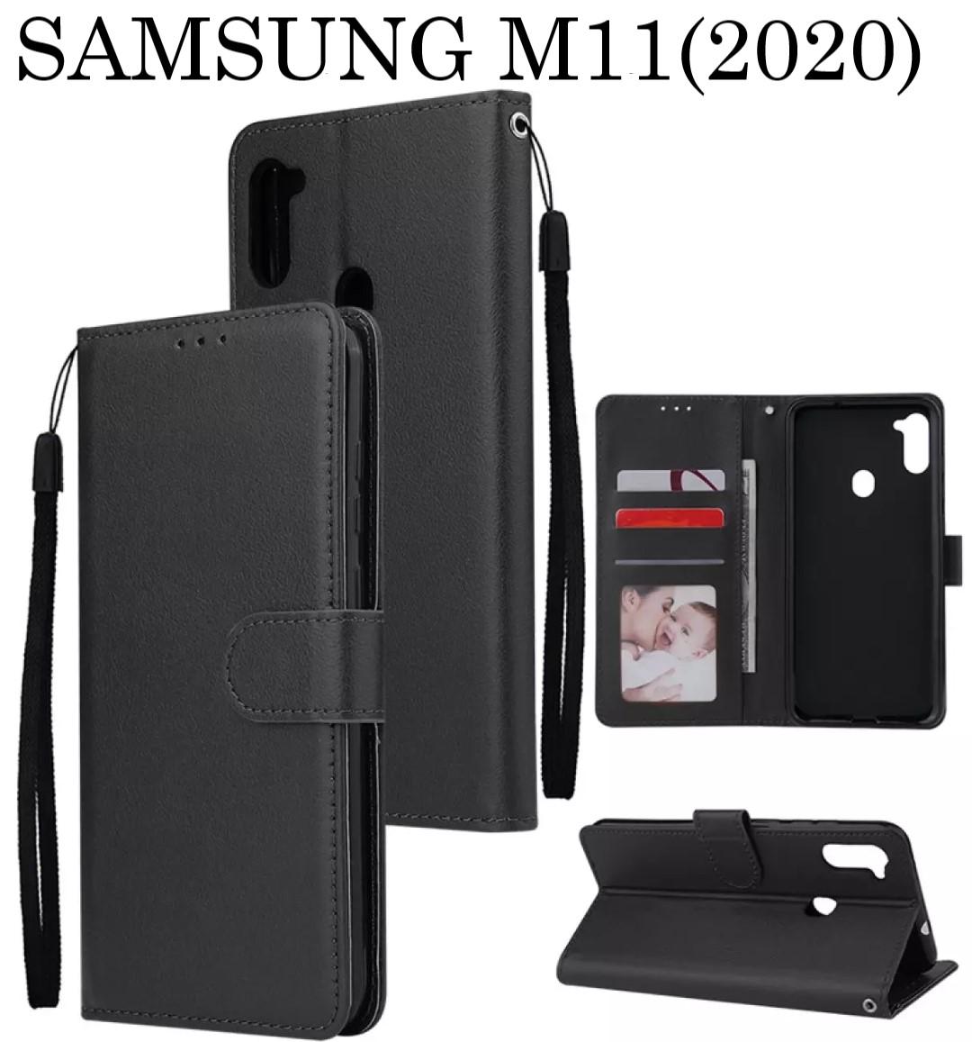 leather case flip untuk samsung m21 (2020) -flip  wallet case kulit samsung m21 (2020)- casing dompet-flip cover leather-sarung buku hp