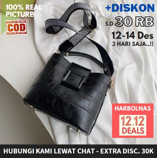tas selempang wanita  2020 tas jinjing 2in1 kantor/kerja model korea import batam ori (bisa cod) – tid18030 white