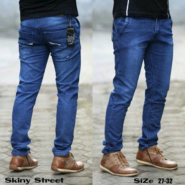 celana panjang pensil ngaret bahan skinny pria distro jeans bintang_samudra