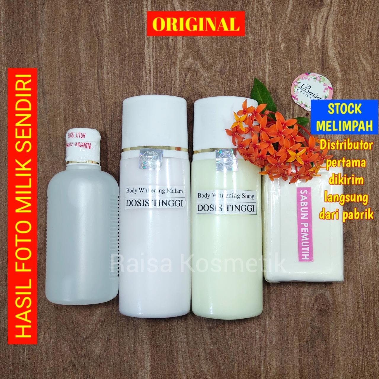 [original] paket  hb extra whitening dosis tinggi body lotion handbody pemutih badan