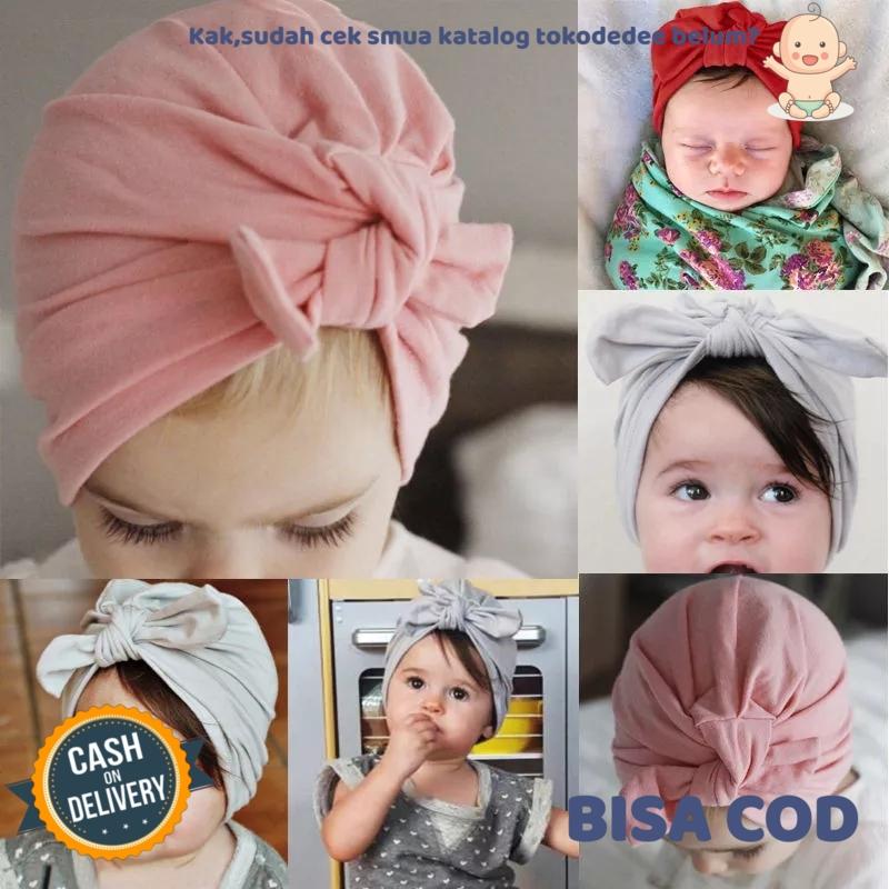 turban bayi & anak pita polos
