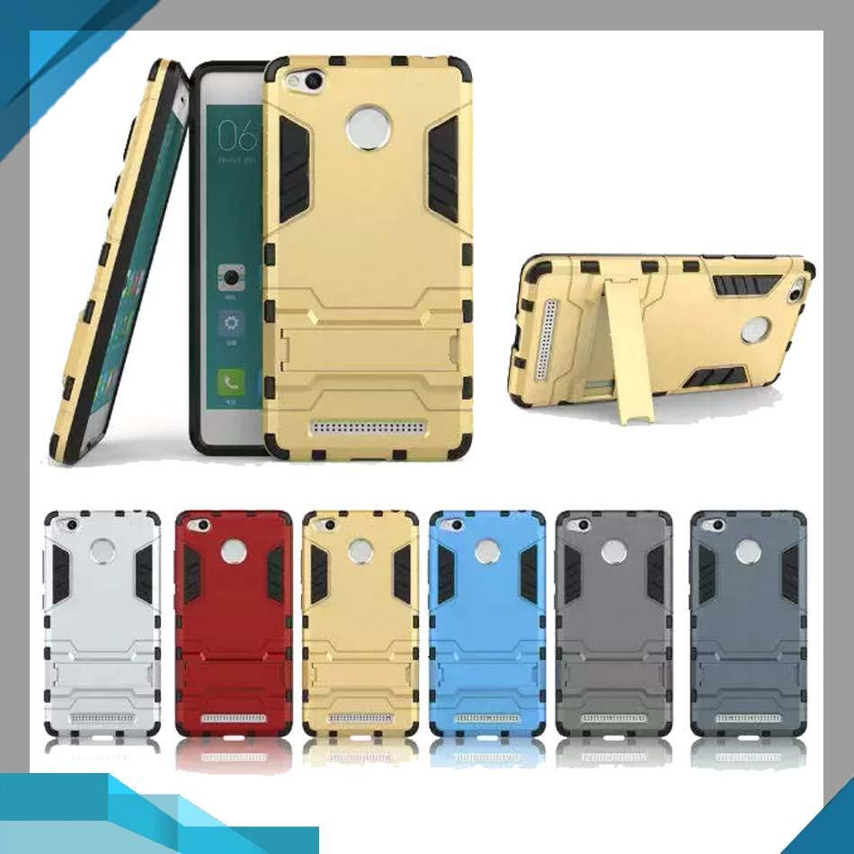 Case Xiaomi Redmi 3S / 3 Pro Armor Shield Hardcase Ironman Robotic Kickstand Transformer Redmi 3S