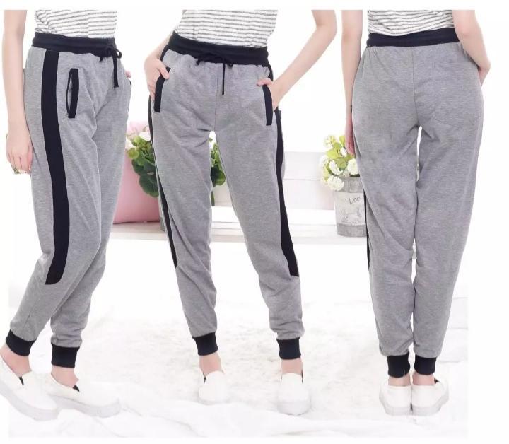 kbl celana joger#santai#trening#olah raga#santai#dll wanita berbahan kaus tebal adam dipakai
