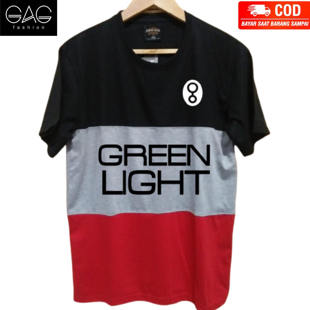 kaos distro kombinasi greenlight 02 kaos untuk pria wanita