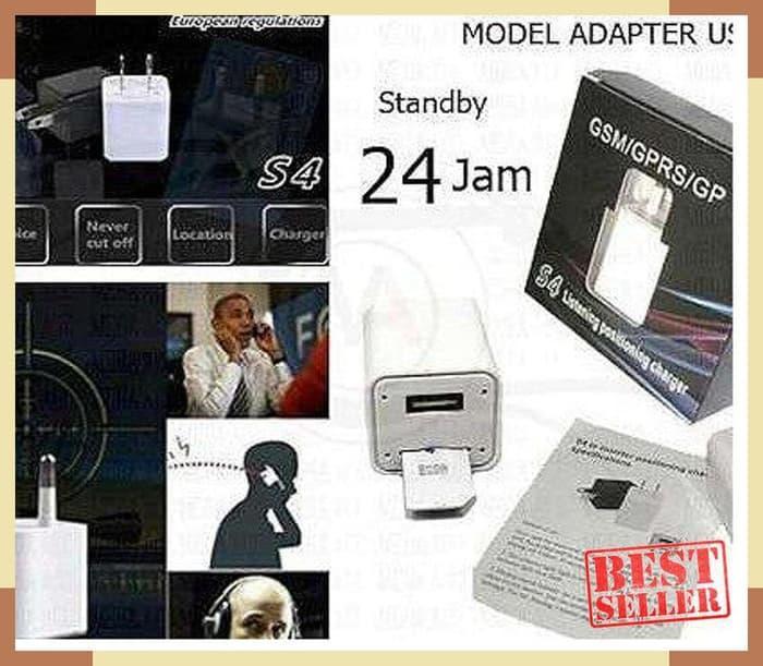 SALE Mini Alat Penyadap Suara All GSM Model AC Adapter Charger USB /