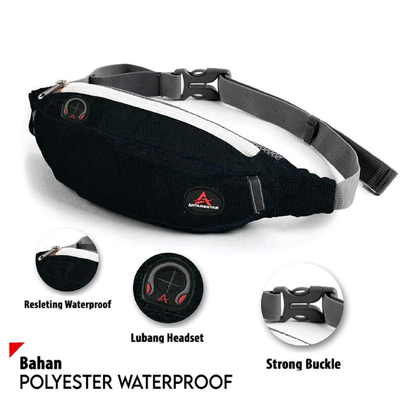 tas selempang waistbag pria waterproof crossbody bags
