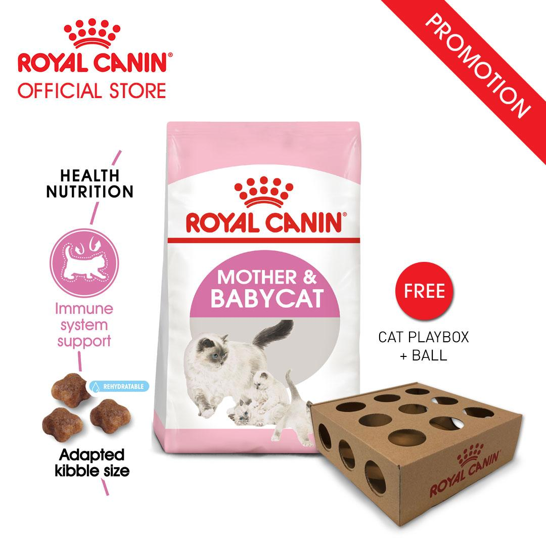 Royal Canin Mother & Babycat Makanan Induk & Bayi Kucing Dry 2kg FREE Cat Playbox