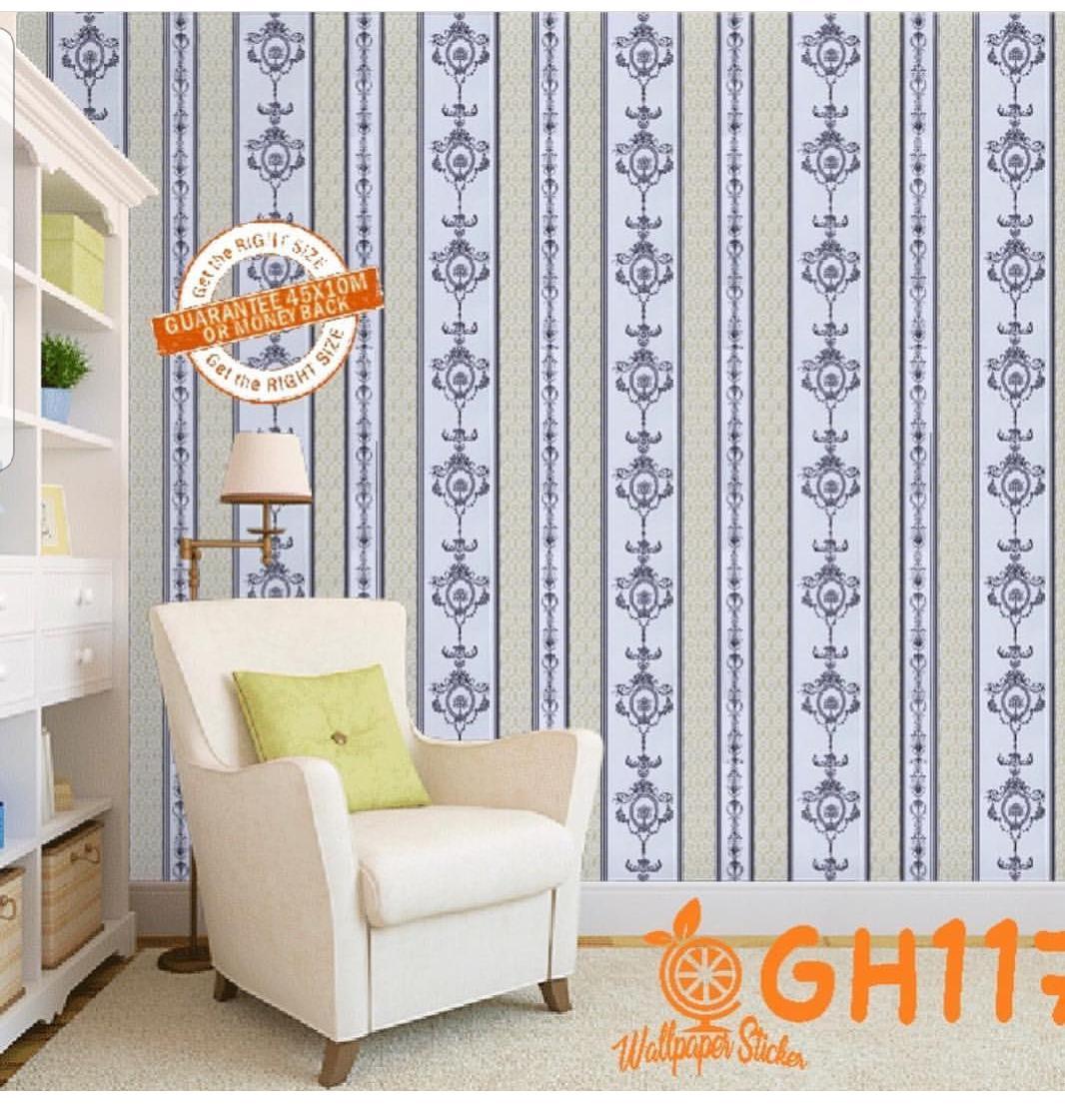 Stiker Wallpaper Dinding - Elegant Wallpaper Sticker (Size 45cm X 10M)