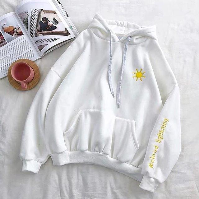 Bunda Fashion Cloude Lighthing Sweater Fleece Sweater wanita/hodie wanita/ Sweater distro Switer Distro