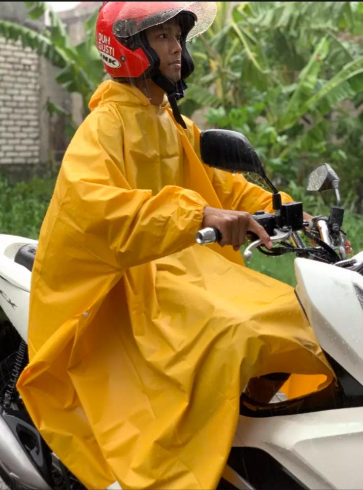 al_hidayah jas hujan ponco jas hujan mantel anti air  model kelelawar – raincoat jas hujan ponco-waterproof tebal tidak mudah sobek-jas hujan dewasa