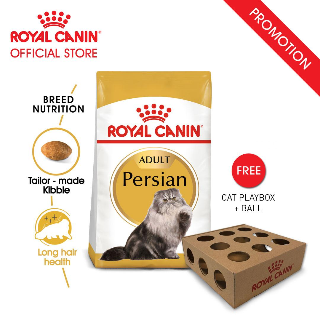 Royal Canin Adult Persian Makanan Kucing Dewasa Persia Dry 2kg FREE Cat Playbox