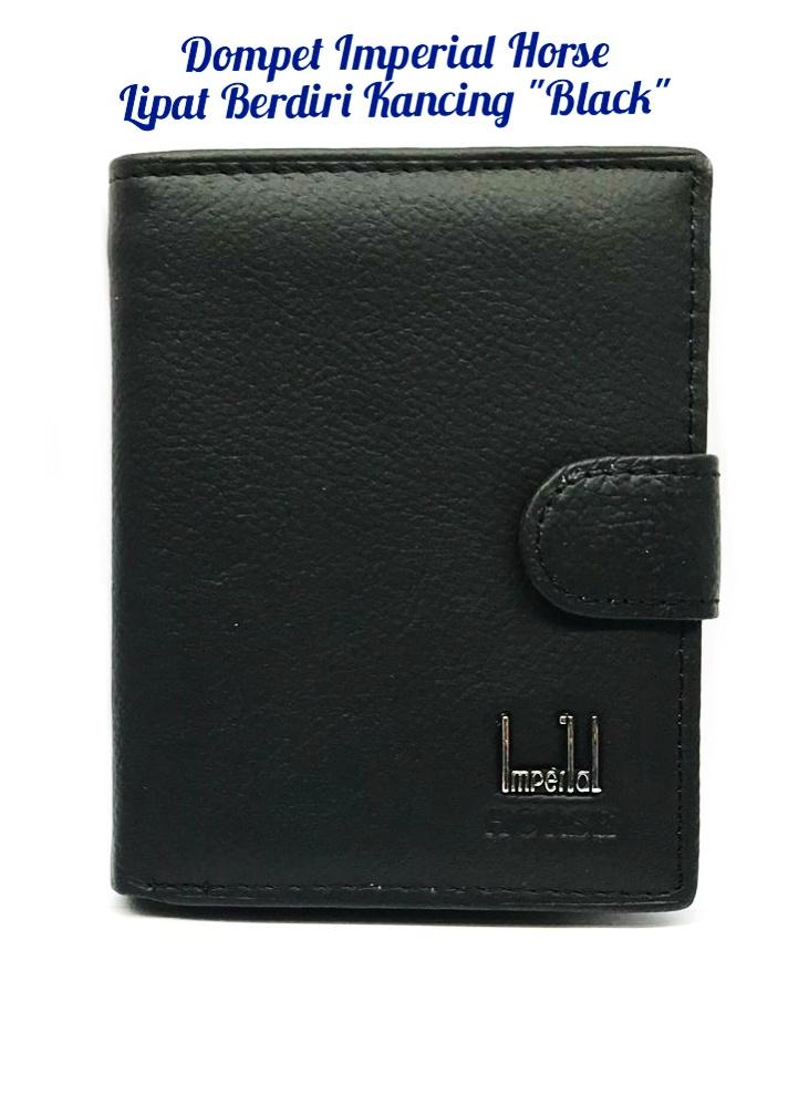 dompet kulit pria dompet pria kulit asli dompet kulit imperial horse berdiri kancing black