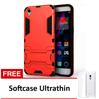 Case Oppo F1 Plus R9 Casing Robot Kick Series Red Free Softcase Ultrathin .