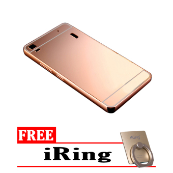 Casing Metal Aluminium Case Lenovo A7000 / A7000+ - Rose Gold + Free iRing