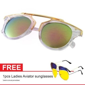 Cat Eye Sunglasses CT MN5005 Pink Mercury Free Aviator Sunglasses - Kacamata Wanita