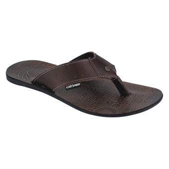 Catenzo Sandal Pria Coveney Kulit NO 076 - Coklat