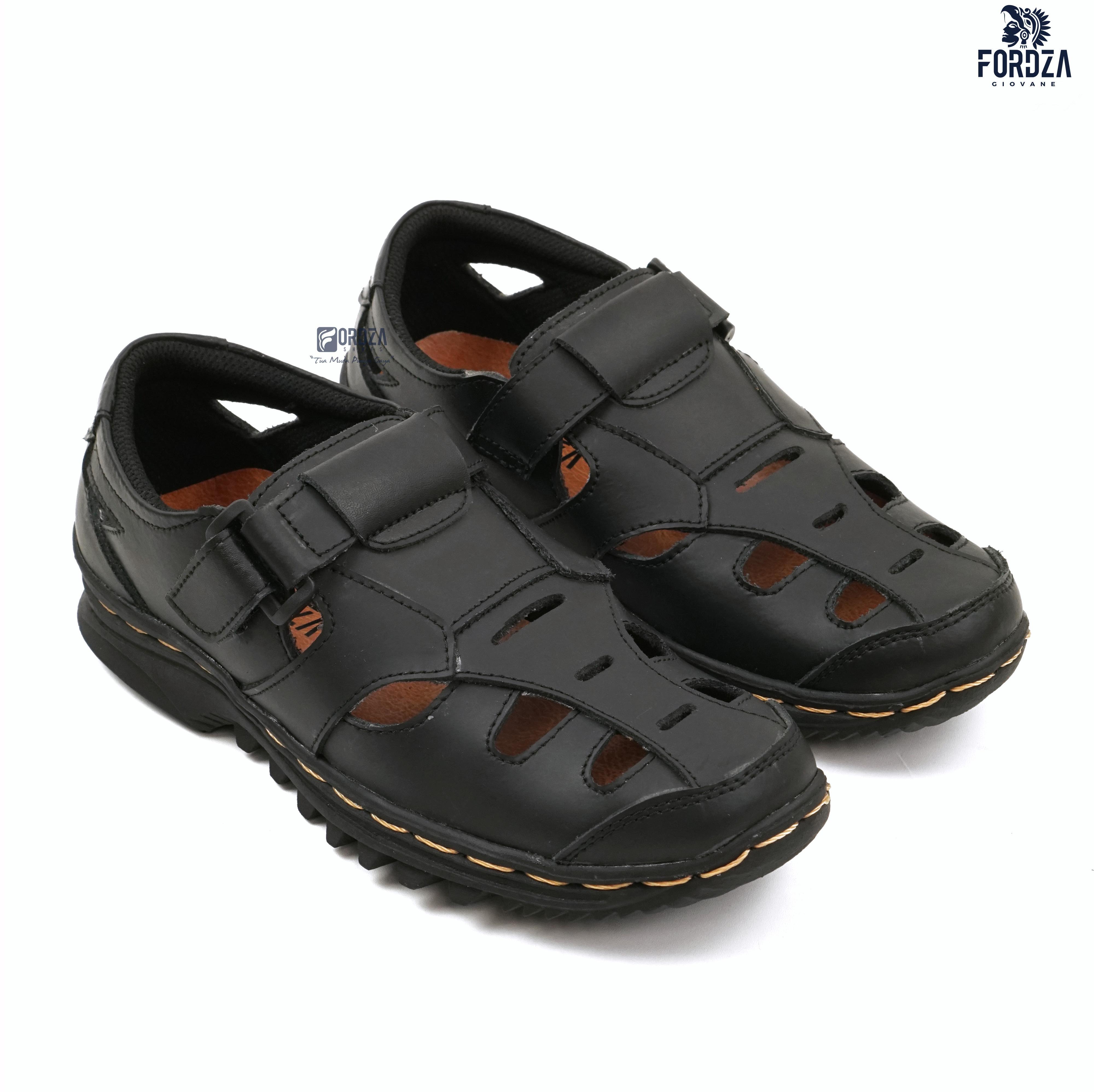 sepatu sandal pria kulit asli breathable like fisherman sandal 302