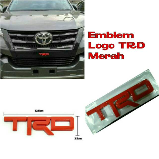 emblem grill trd merah model fortuner