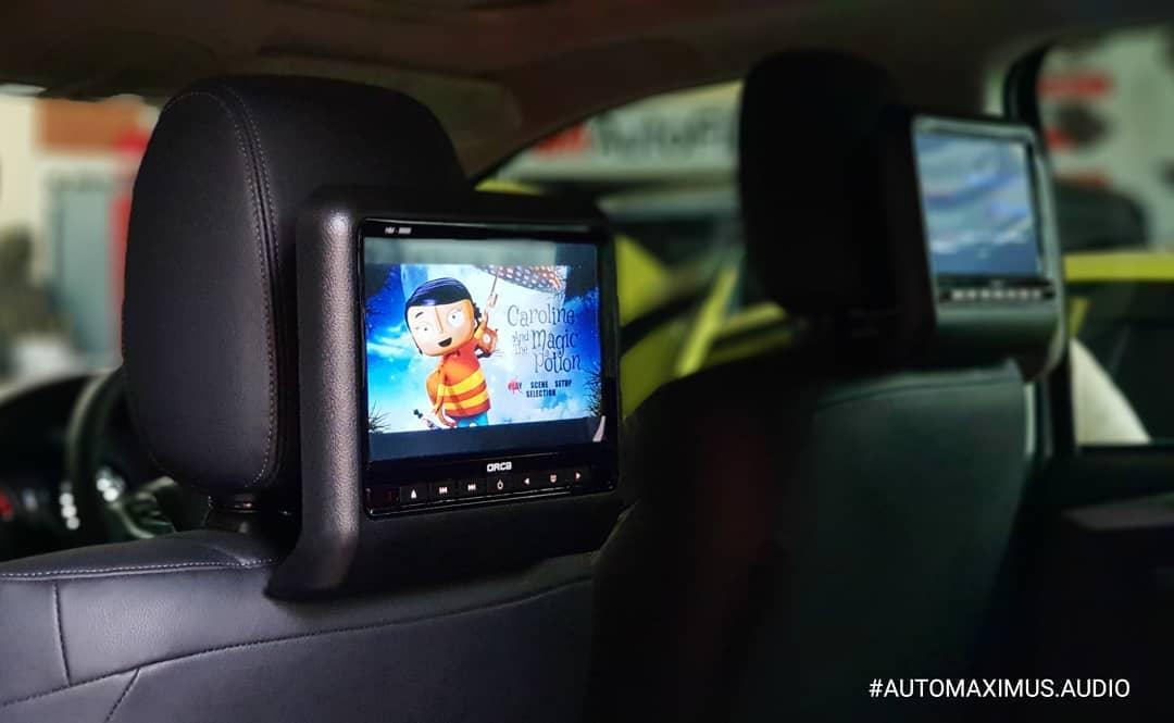 monitor headrest clip on orca full hd hm-9887