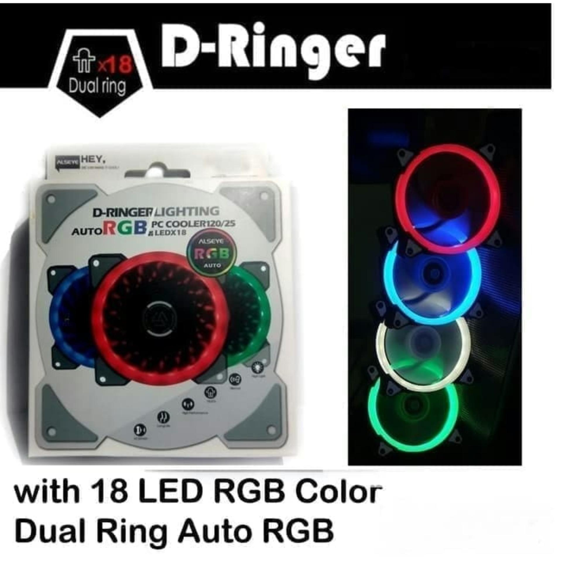 FAN CASING 12Cm ALSEYE D-Ringer 7 Color LED
