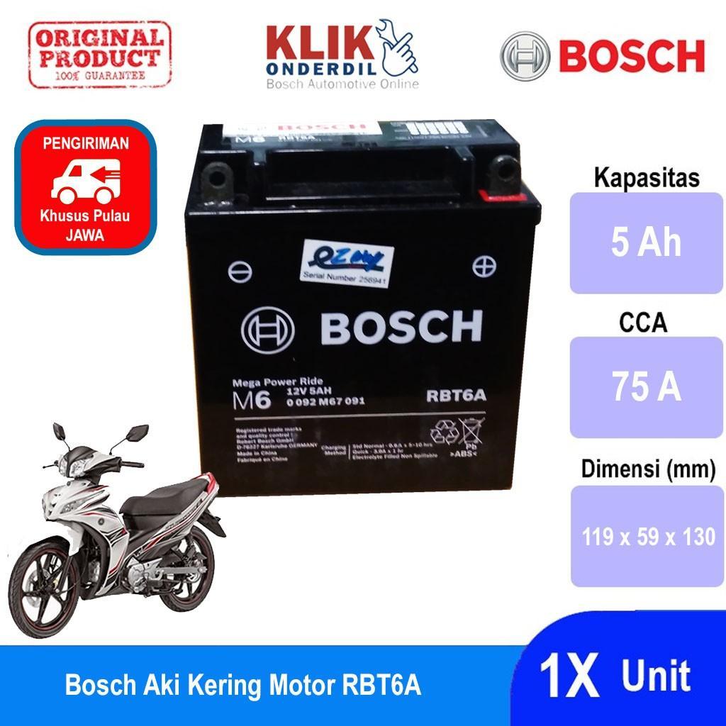 Bosch Aki Kering Motor Yamaha Jupiter Z (2003) Maintenance Free AGM RBT6A- 0092M67091