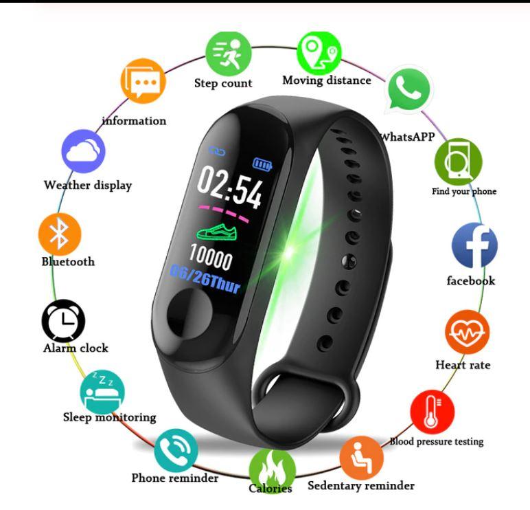 lumin m3 smartwatch bracelet gelang jam tangan smartbheart rate plus oled waterproof wristbdisplay