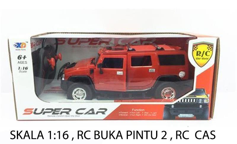 RKJ Mainan Anak RC Mobil Remote Baterai Cas Super Car Hammer Skala 1:16 Bisa