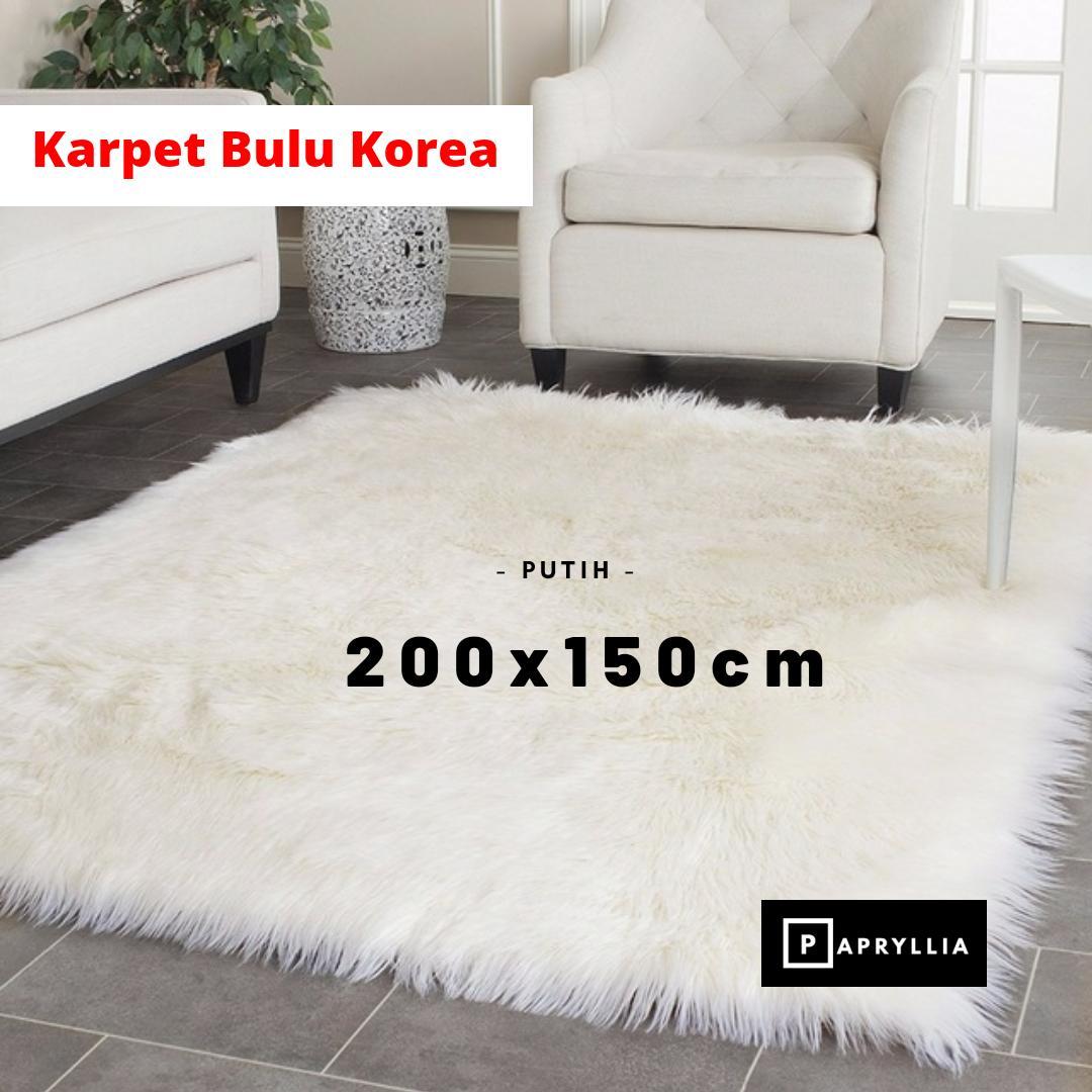 karpet bulu korea tebal ukuran 200x150cm + antislip bintik