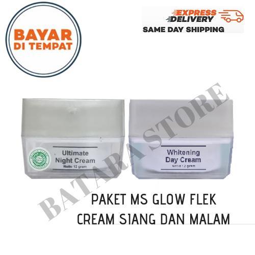 [paket penghilang flek] ms glow toner glowing ms glow cream malam ultimate / msglow ultimate night cream – toner mg glow