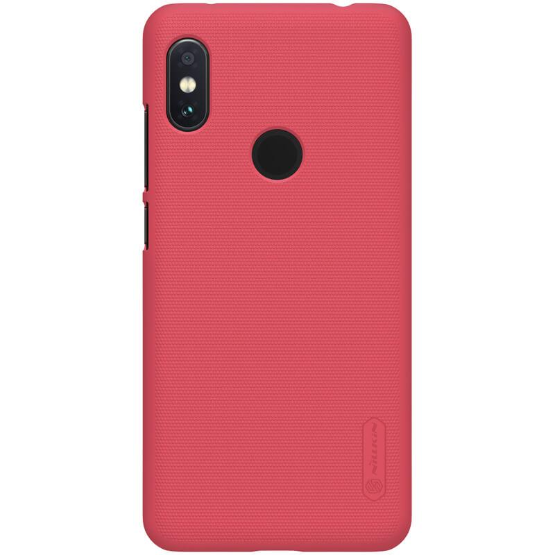 Nillkin for Xiaomi Redmi Note 6 Pro Super Frosted Shield Hard Case Original - Merah