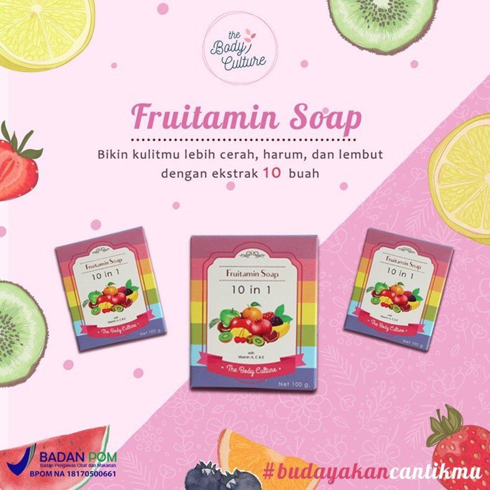 [BODY CULTURE] FRUITAMIN SOAP 10 IN 1 SABUN FRUITAMIN RAINBOW BPOM - 2