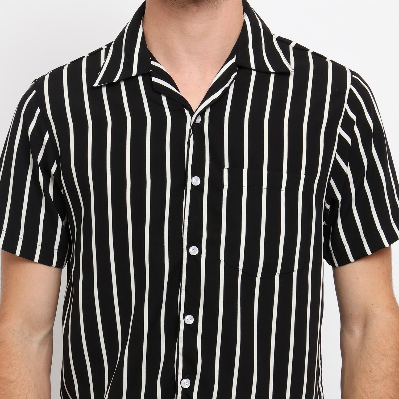 ... MENTLI Kemeja Pria Stripe - Sandy Casual Shirt - 4