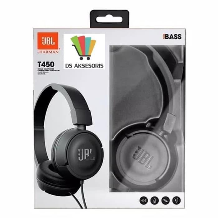 HEADPHONE JBL / HEADSET JBL / EARPHONE JBL -ON EAR T450 PURE BASS OEM Harga