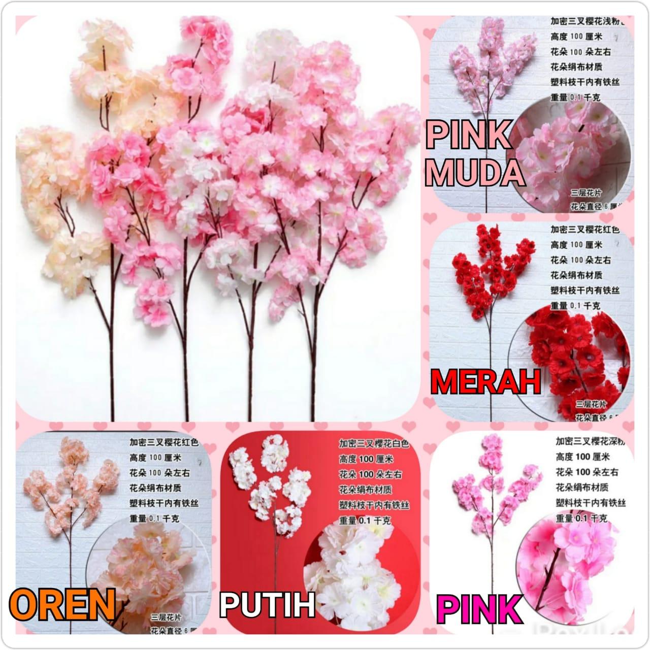 bunga sakura  cabang3 /bunga palsu / artifisial plant