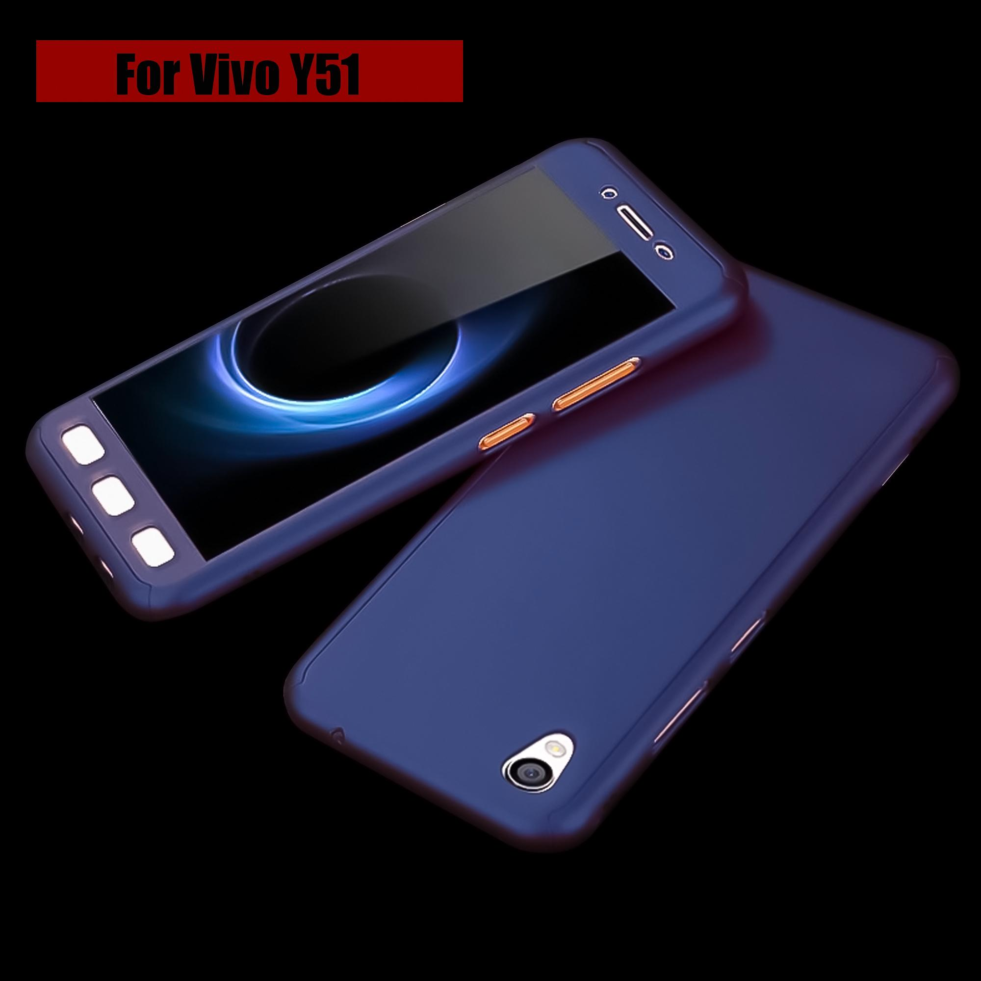 Case Front Back 360 Degree Full Protection for Vivo Y51 + Tempered Glass