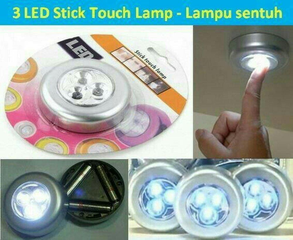 Promo Hemat 10 PCS - Lampu Dinding Tempel - Lampu Lemari Tempel - Lampu Darurat -