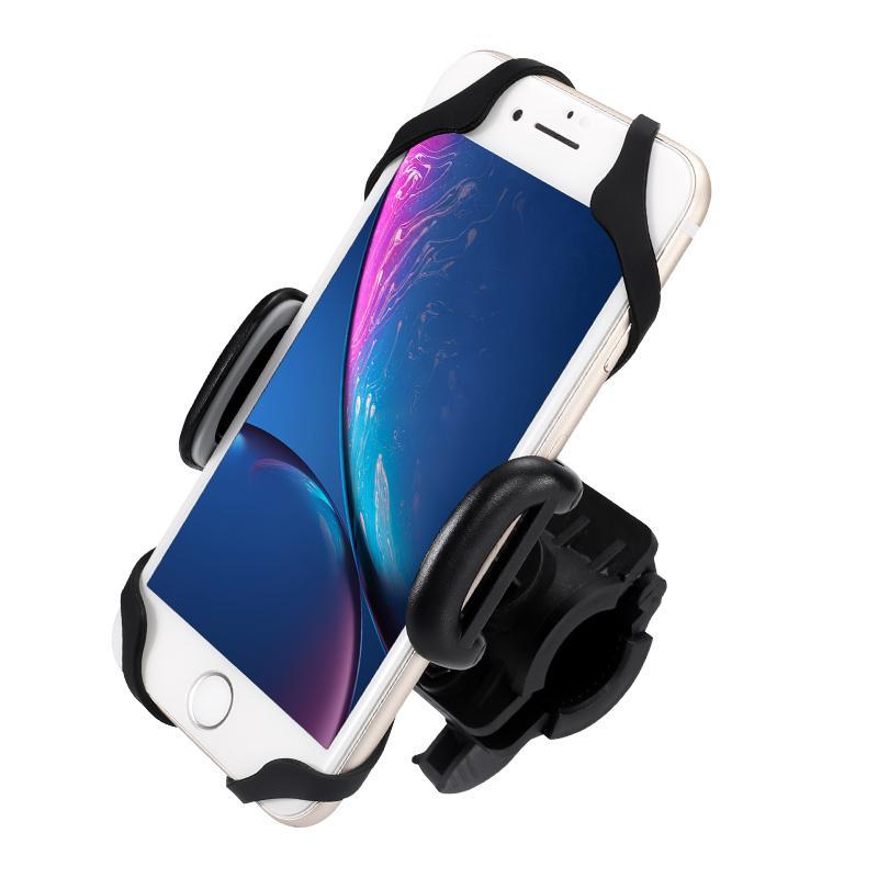 holder hp motor stang handlebar universal smartphone mount usb charger – kuning
