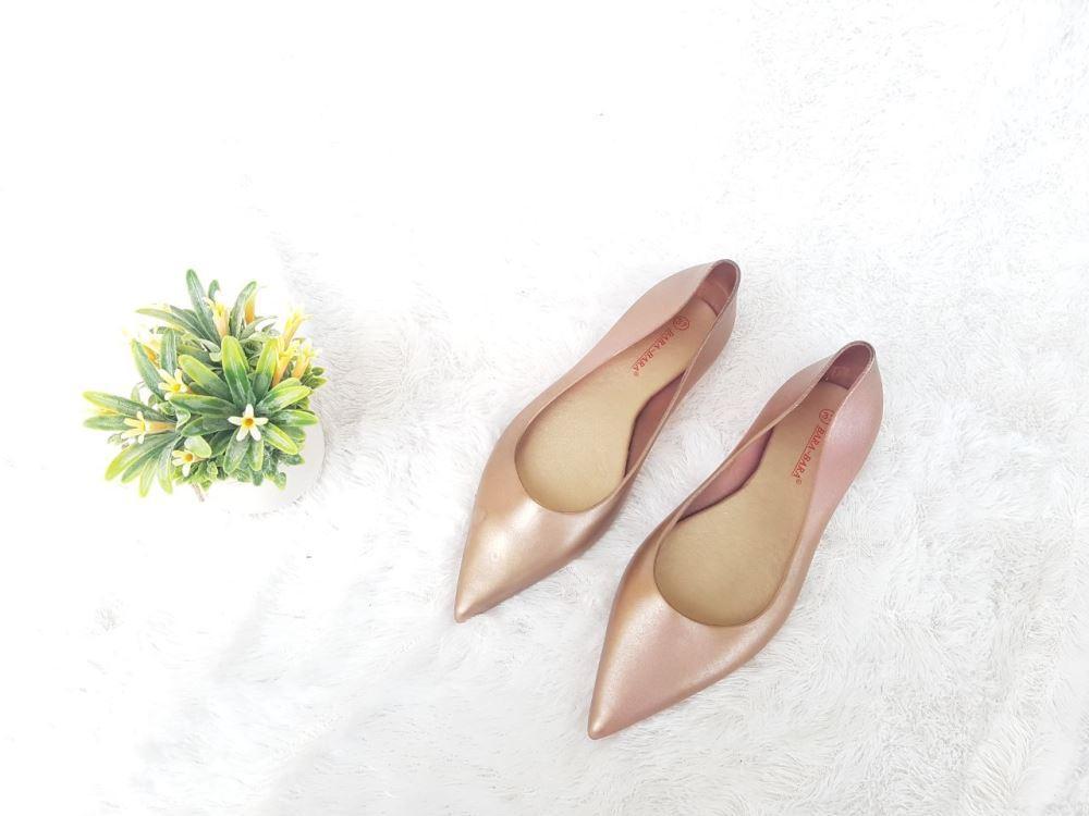 ... Flat Shoes Bara Bara Jelly Shoes Silikon Flat Shoes Cewek VIO14 Warna Dikirim Random - 4