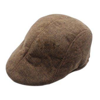 Cocotina Vintage Datar Topi Memuncak Balap Baret Country Golf Topi  Sutradara-Coklat 5af97f91ac
