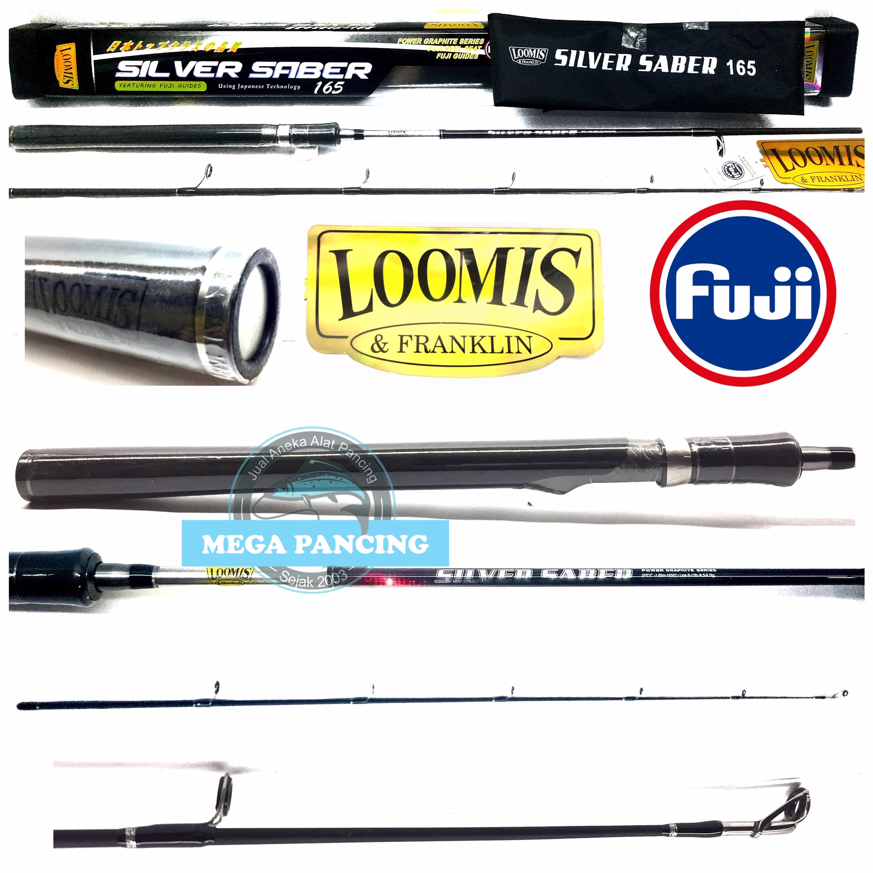 joran pancing loomis&franklin silver saber 165cm