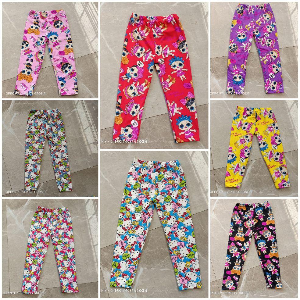 celana anak legging lol hello kity karakter 1 sampai 10 tahun s m l xl xxl balita-junior