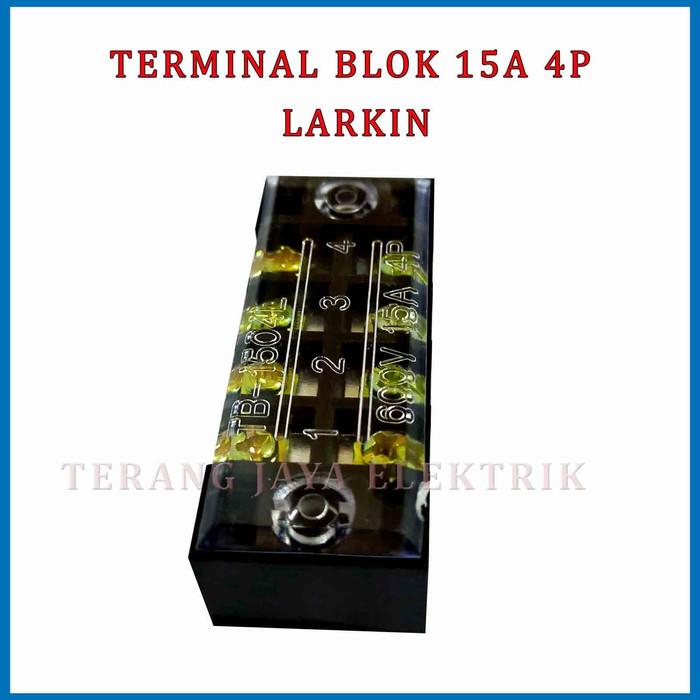 terminal block 4 pole 15a larkin tb-1504